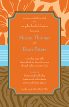 Modern Orange Paisley Invites