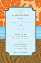 Stylish Casual Paisley Sky Blue Invitations
