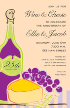 Fine Wine Cheese Creme Invitations