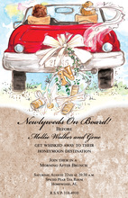 Nostalgia Honneymoon Car Wedding Invitations