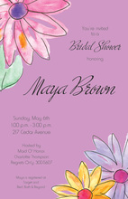 Watercolor Gerbers Lavender Invitations