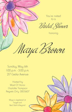 Watercolor Gerbers Yellow Invitations