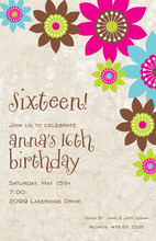 Abstract Floral Ivory Invitations