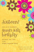 Vivid Flower Yellow Invitations