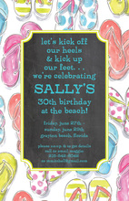 Watercolor Flip Flops Birthday Invitations