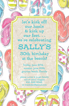 Ivory Flip Flops Birthday Invitations