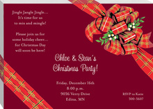 Gifts Holiday Maroon Invitations