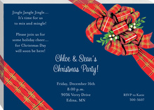 Navy Package Holiday Invites