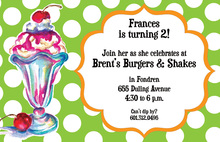Kids Ice Cream Sundae Invitations