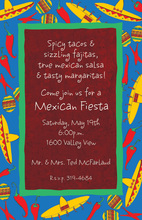 South Of The Border Red Fiesta Invites