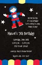Moonwalk Space Kids Invitations
