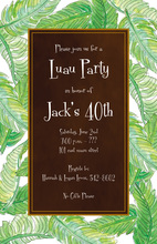 Classy Banana Leaves Lush Green Invitations