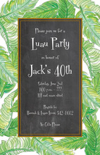 Trendy Banana Leaves Lush Green Invitations