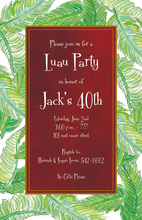 Holiday Banana Leaves Lush Green Invitations