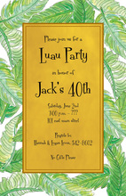 Golden Banana Leaves Lush Green Invitations