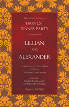 Fall Leaves Red Texture Invitations