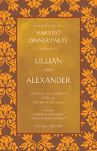 Fall Leaves Gold Texture Invitations
