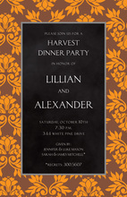 Fall Leaves Black Texture Invitations