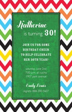 Trendy Colorful Rainbow Invitations