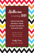 Multi-Color Chevron Texture Invitations