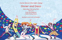 Disco Party Dancing Invitations