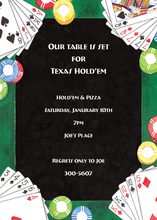Deck Of Playing Cards Invitation