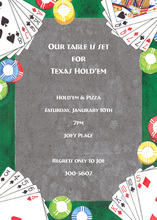 Poker Cards Celebration Invitations