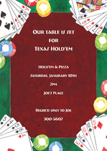 Holiday Poker Deck Of Cards Invitation