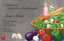 Italian Fresh Vegetables Grey Invites