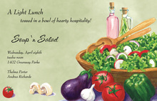 Fresh Vegetables Sage Invitations