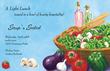 Inspired Fresh Vegetables Invitation