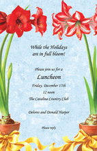Red Amaryllis Arrangements Invitation
