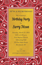 Western Bandana Yellow Invitations