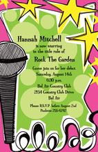 Rock And Roll Music Invitations