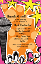 Pop Rock Music Invitations