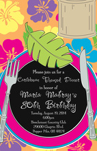 Classic Luau Placesetting Invitations