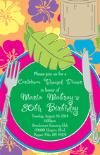 Modern Luau Placesetting Invitations