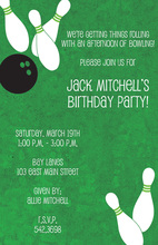 Popular Bowling Party Invitations