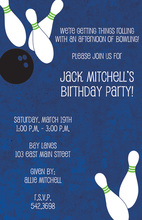 Bowling Strike Party Invitations